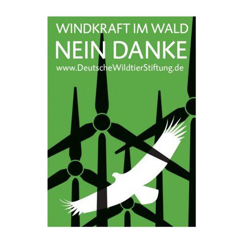 "20 Aufkleber ""Windkraft im Wald – NEIN DANKE"""
